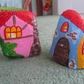 Мастер-класс «Домики из камней для декорации клумбы»