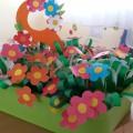 Коллективная работа по ручному труду «Цветочная полянка» для мамочек