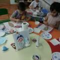 Мастер-класс с детьми 4–6 лет по изготовлению украшения на елку «Дед Мороз из салфеток»