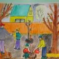 Фотоотчёт «Весна в художественном творчестве детей»