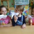 Детский мастер-класс по оригами «Голубь»