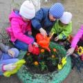 Фотоотчёт «Посадили мы цветы… Труд детей на прогулке»