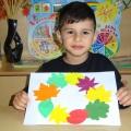 Детский мастер-класс по аппликации «Венок из осенних листьев»