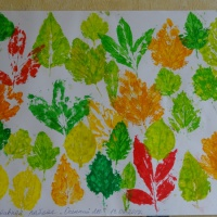 Коллективная работа с использованием нетрадиционных техник рисования «Осенний лес»