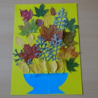 Детский мастер-класс «Букет из осенних листьев». Работа с природным материалом