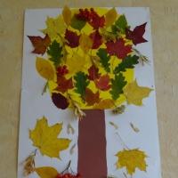 Детский мастер-класс. Коллективная работа «Осеннее Чудо-дерево». Работа детей с природным материалом