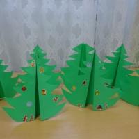 Детский мастер-класс по оригами «Объёмная ёлочка»