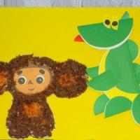 Детский мастер-класс по аппликации «Друг для Чебурашки»