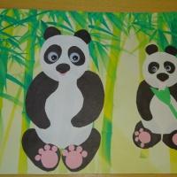 Детский мастер-класс по аппликации «Панда с детёнышем»