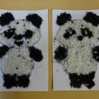 Детский мастер-класс по аппликации из шерстяных нитей «Панда»