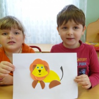 Детский мастер-класс по аппликации из бумаги «Львёнок»