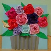 Фотоотчёт о художественном творчестве детей «Для милой мамочки»