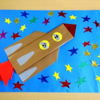 Детский мастер-класс по оригами «Белка и Стрелка в космосе»