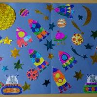 Фотоотчёт о художественном творчестве детей «Космос глазами детей»