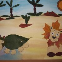 Фотоотчет: конкурс поделок из листьев «Осенние фантазии».