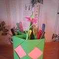 Мастер-класс по изготовлению карандашницы в технике оригами