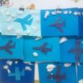 Конспект по художественно-эстетическому развитию (аппликация) «Самолеты в небе» в средней группе