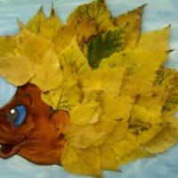 Аппликация из природного материала «Осенний ёжик»