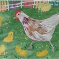 Мастер-класс «Коллективная работа в нетрадиционной технике рисования «Курочка с цыплятами»