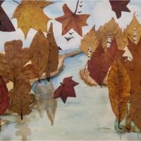 Мастер-класс по аппликации из осенних листьев «Осенний лес»