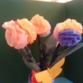 Поделка из салфеток «Ваза с цветами»