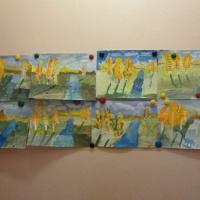 Конспект непосредственно-образовательной деятельности по рисованию в подготовительной группе «Осенний пейзаж»