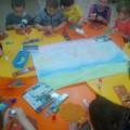Коллективная работа: Аппликация и рисование «Праздничный салют» ко Дню города в средней группе