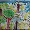 Конспект занятия по рисованию «Такие разные деревья»