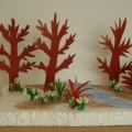 Макет «Весенний лес». Коллективная работа для детей 5–6 лет