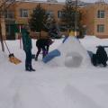 Оформление участка детского сада снежными постройками «Волшебная зима»