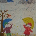 Совместная деятельность воспитателя с детьми «Дождик капает» (фотоотчет)