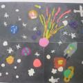 Занятие по художественно-эстетическому развитию (пластилинография) «Космос глазами детей»