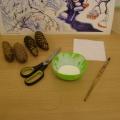 «Зимний домик» поделка из природного материала для детей 2,5–3 лет