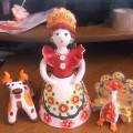 Изготовление глиняных игрушек (дымковская барыня)