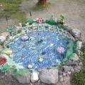 Пруд на участке детского сада