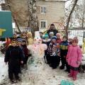 Как мы лепили снеговика!