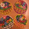 Лепка из пластилина на диске «Корзина цветов на 8 марта»