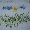 «Краски и снег — забава для всех». Оформление участка