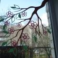 «Расцветали яблони и груши…» Мастер-класс по сборной вытынанке для оформления окна ко Дню Победы