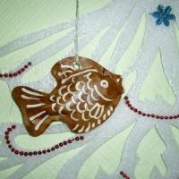 «Пряничная рыбка». Художественно-творческий эксперимент работы с крафт-бумагой. Мастер-класс