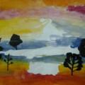 Рисование «Небо при закате солнца» (подготовительная группа)