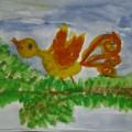 Рисование сказочной птицы (подготовительная группа)