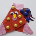 Новогодняя игрушка на ёлку «Петушок» из подручных материалов. Мастер-класс с пошаговыми фото. Взаимодействие с родителями