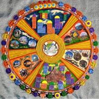 Коллективная работа «Открытка «Родной, Огромный и Нарядный» к 125 летнему юбилею города Новосибирска (часть I)