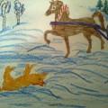 Конспект занятия по речевому развитию. Пересказ сказки «Лисичка-сестричка и серый волк» с последующим рисованием