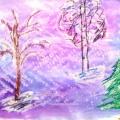 Зимнее творчество детей