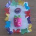 Бабочки из цветной бумаги