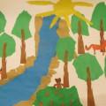 Коллективная работа «Лес— наше богатство» (обрывная аппликация)