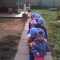 Осенняя прогулка в первой младшей группе «Наблюдение за солнышком»