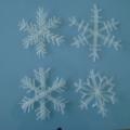 Мастер-класс «Хрустальные» снежинки»